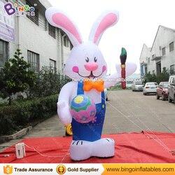 Dekoracji nadmuchiwane zając wielkanocny  3 m wysokości nadmuchiwane zając wielkanocny dekoracji  nadmuchiwany królik z wielkanoc jajko do użytku w pomieszczeniach