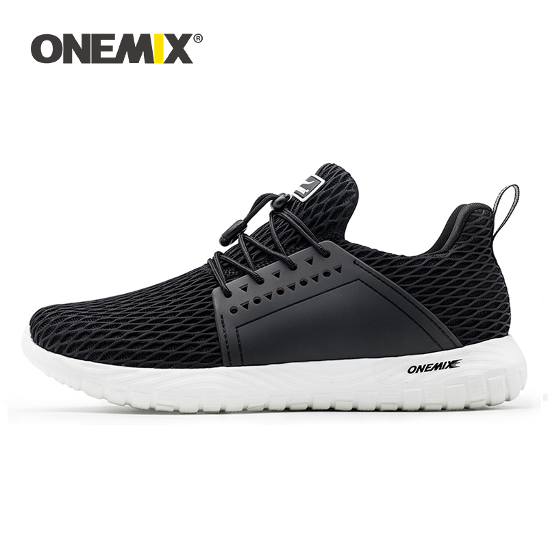 ONEMIX Summer Men Running Shoes Women Sneakers Slip-on Outdoor Breathable Mesh Lightweight Trainers Jogging Walking Tennis Shoes