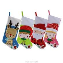 Бесплатная ДОСТАВКА 4 штуки в партии 19 «Рождественские носки Санта оленей для девочек и мальчиков подарок носок Рождество внутренней отделки подарок