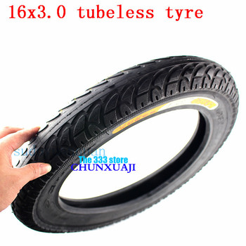 CTS 1 pcs 16x3.0 thickening tubeless electric car tire 16 inch Electric Vehicle and E-bike Vacuum wheel tyre high quality
