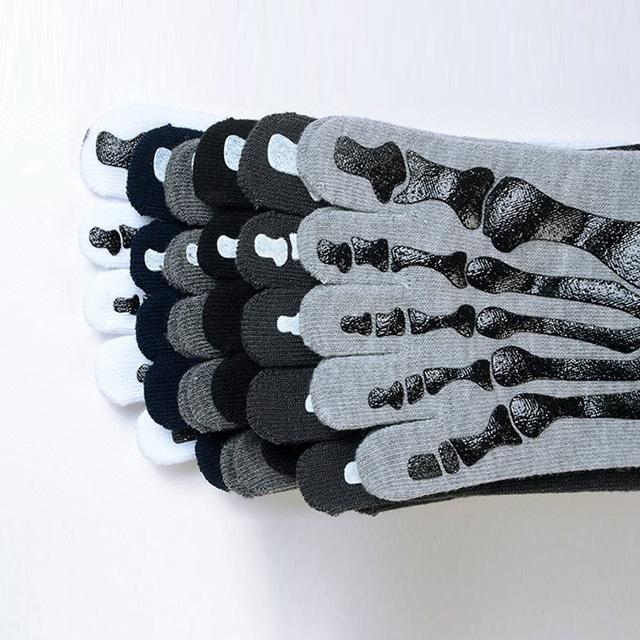Men's Skeleton Print Toe Socks