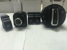 free shipping Window Switch Mirror Switch Headlight Switch For Volkswagen VW passat B6 Eos Golf GTI mk 5 mk 6 4 PCS / KIT