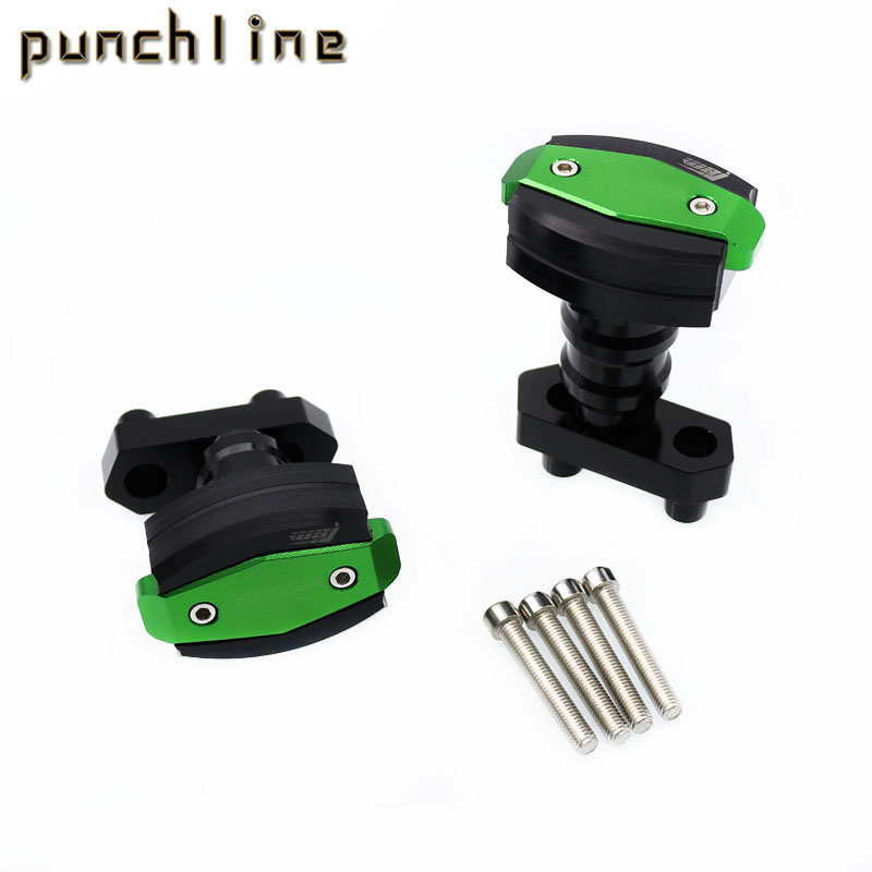 For KAWASAKI Z 800 Z800 2013-2015 2014 Motorcycle Accessories Body Frame Sliders Crash Protector Falling Protection Green