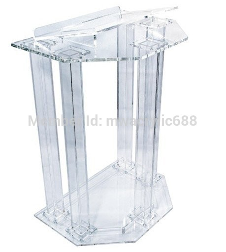 Free Shipping Price Reasonable Transparent Cheap Clear Acrylic Lectern Podium Plexiglass