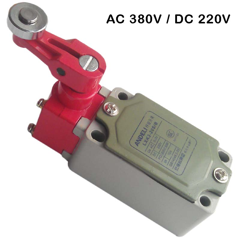 380V AC 220V DC 1NC 1NO Momentary limit switch 3 position rotary switch door stop switch