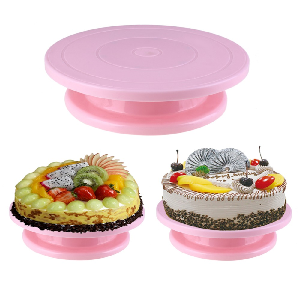 28cm Plastic Cake Turntable Rotating Anti Skid Cake