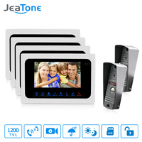 JeaTone Video Doorbell 7 Inch Monitor Intercom System Night Vision Home Security System 2 Camera 4