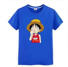 One Piece Luffy flag logo cartoon Printed Men's T-Shirt T Shirt For Men 2016 New Short Sleeve O Neck Cotton Casual Top Tee