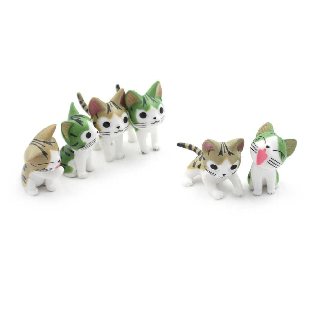 3 adet/takım peri bahçe minyatürleri reçine kedi Mini oyuncak Mini cüceler Moss teraryum DIY el sanatları figürleri bebek aksesuarları