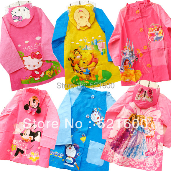 Hotsale rain coat for kids cute  raincoat rainwear cartoon animal poncho rainsuit  outdoor rainwear for children Free Shipping