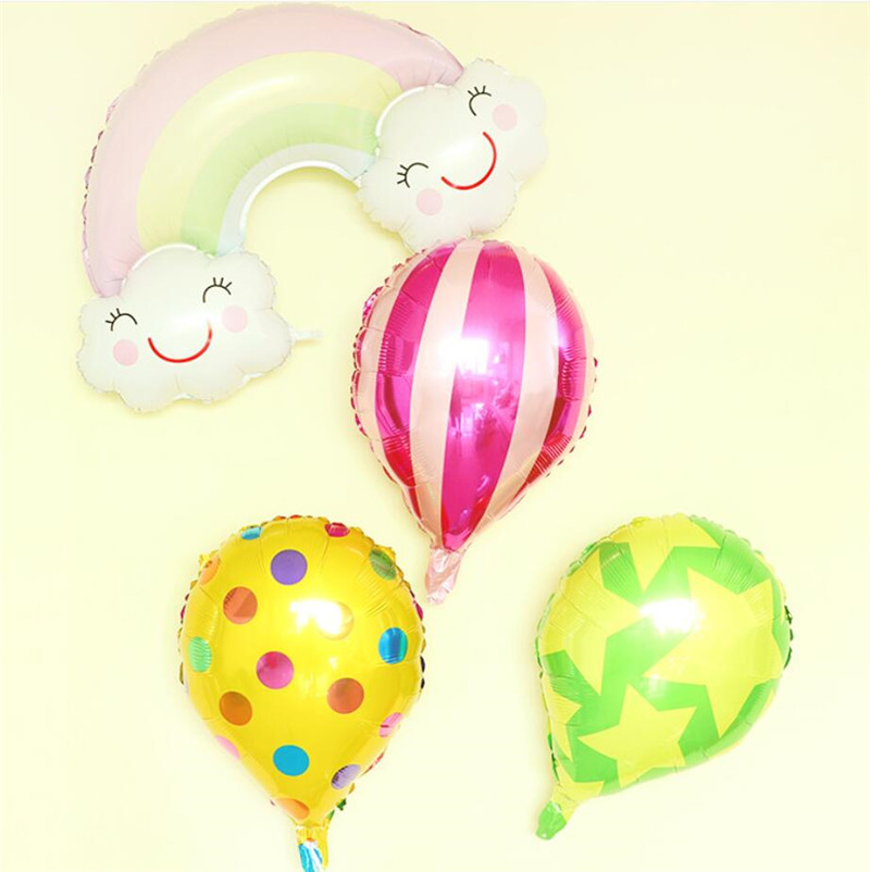 Hot Air Balloon Birthday Party Aluminium Foil Baloons Wedding Spot Decations Christmas Gift Ball School Event Cartoon Hat