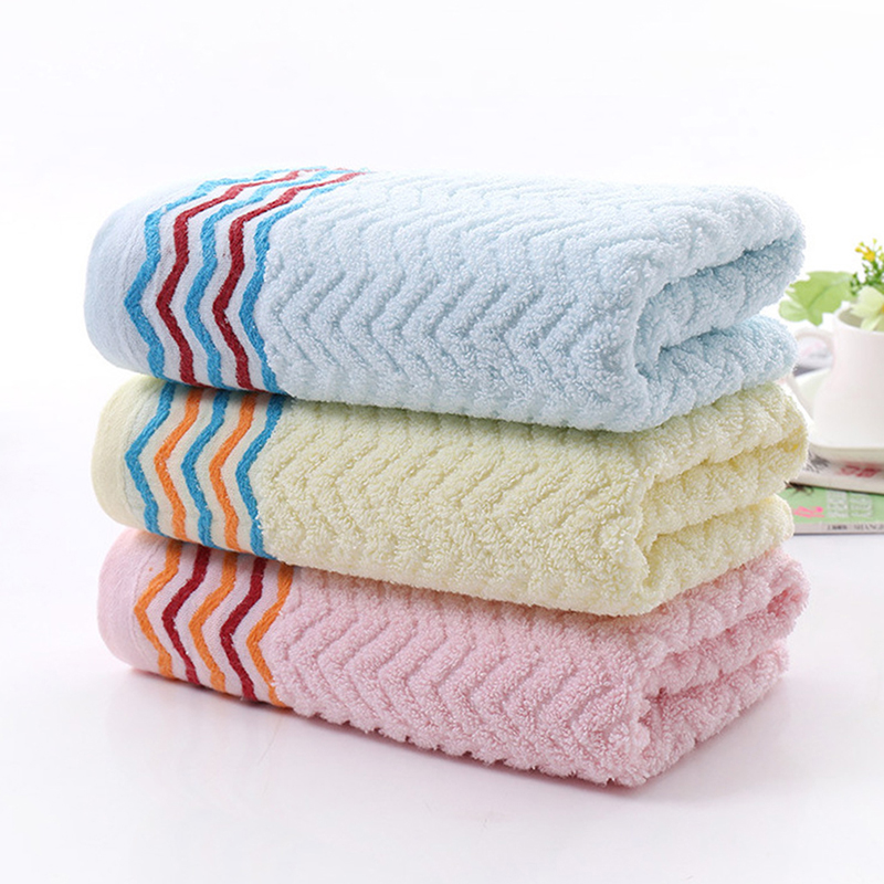 Good Quality Bath Towel Beach Towel For Adults Fast Drying Towel Colorful Stripe Thick High Soft Cotton Absorbent Towel