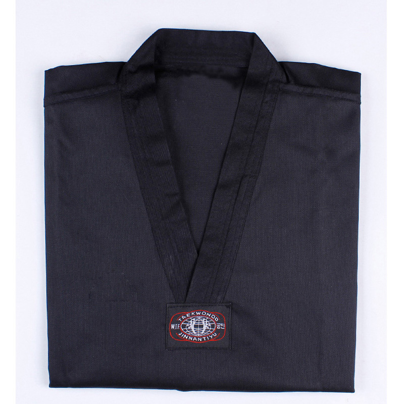 Тхэквондо добок с длинными рукавами таэквондо равномерной каратэ одежда Профессиональный тхэквондо кроссовки черный и красный Костюмы дл...