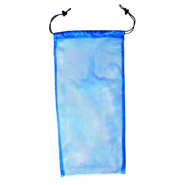 97445f823c Azul de seguridad buceo Snorkel natación aletas de almacenamiento de  calzado llevar bolsa de malla bolsa