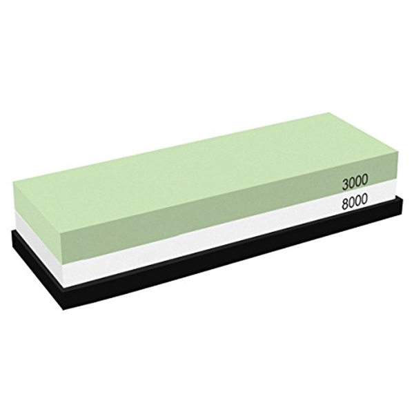 Knife Sharpening Stone Waterstone <font><b>3000</b></font> <font><b>8000</b></font> <font><b>Grit</b></font>, Silicon Non-slip Base for Kitchen knives, Hunting knives image