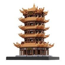 Balody Chinses Berühmte dachboden Architektur Diamant Bausteine bildung Geschenke Spielzeug Für Kinder