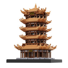 Balody Chinses Famous attic Architecture Diamond Building Blocks education Gifts Toys For Children