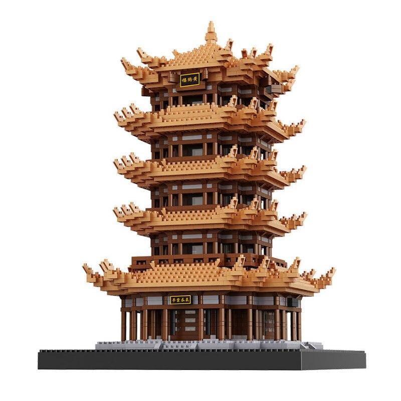 Balody chinses famoso sótão arquitetura diamante blocos de construção educação presentes brinquedos para crianças