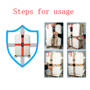 Image 2 - RHXFXTL Brand Luggage Cross belt adjustable Travel Suitcase band Luggage Suitcase rope Straps travel accessorie high quality H23