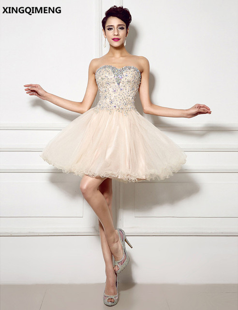 Champagne Cocktail Dresses Short