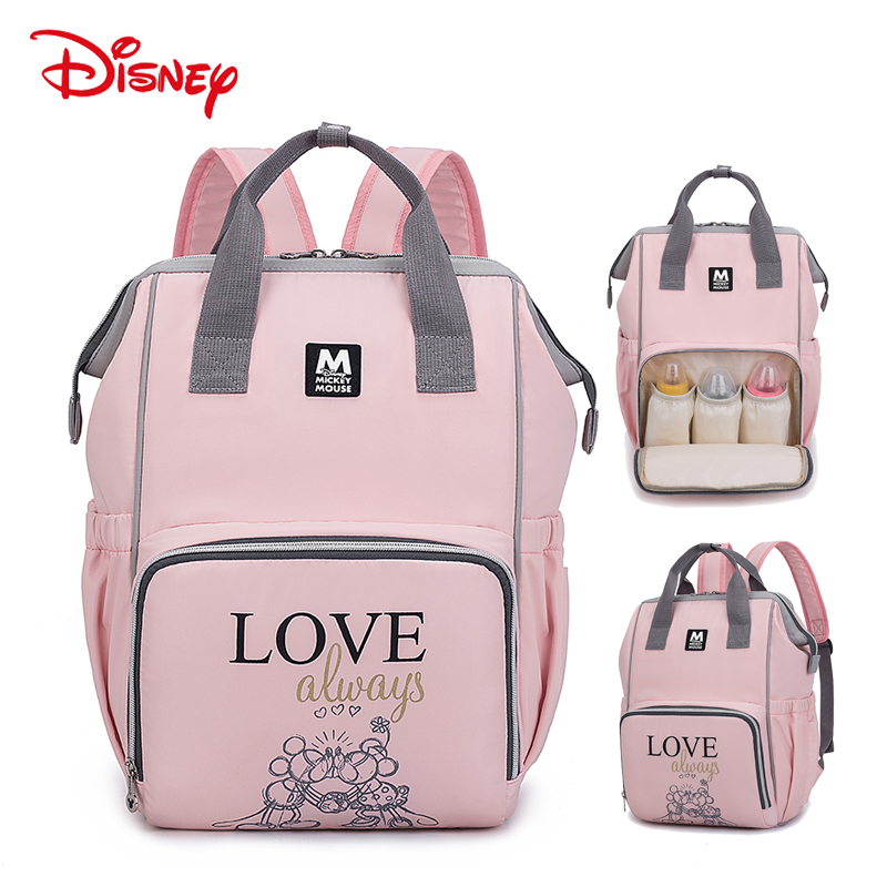 Disney New Mochila Maternidade Waterproof Diaper Bags Travel Backpack Mickey Minnie Baby For Mom Storage Bag Mummy