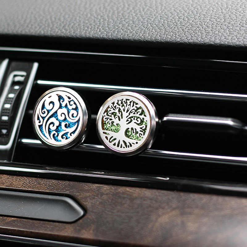 Nowy anioł skrzydła samochód klip powietrza perfumy dyfuzor ze stali nierdzewnej Vent odświeżacz powietrza samochodu aromaterapia OLEJEK ETERYCZNY dyfuzor medalion