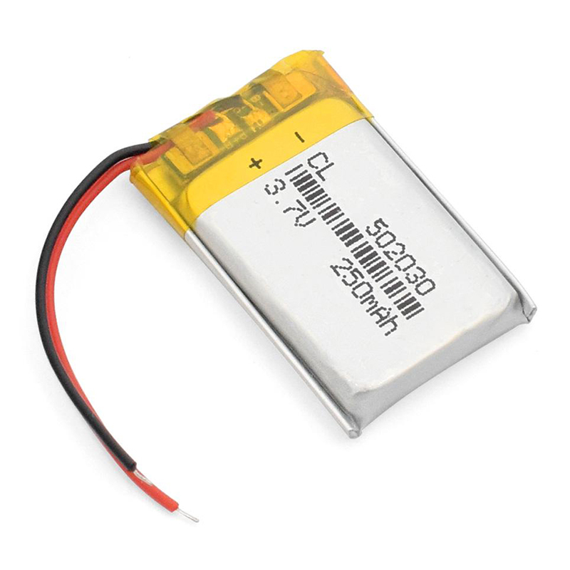 1pcs 3.7V 250mAH 502030 Polymer Lithium Battery Polymer Lithium Ion Battery Rechargeable Digital Battery