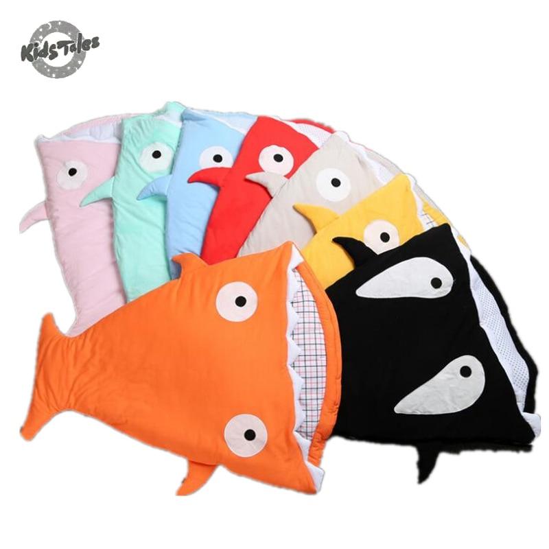 Kids Tales Envelope Newborn Shark Sleeping Bag For Winter Use Baby Swaddle  Blanket Wrap Cute Cartoon