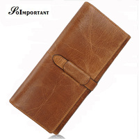Luxury Brand Wallet Female Genuine Leather Women Wallets Purse Magic Long Card Holder Wallet Womens Clutch