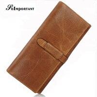 Luxury Brand Wallet Female Genuine Leather Women Wallets Purse Magic Long Card Holder Wallet Womens Clutch