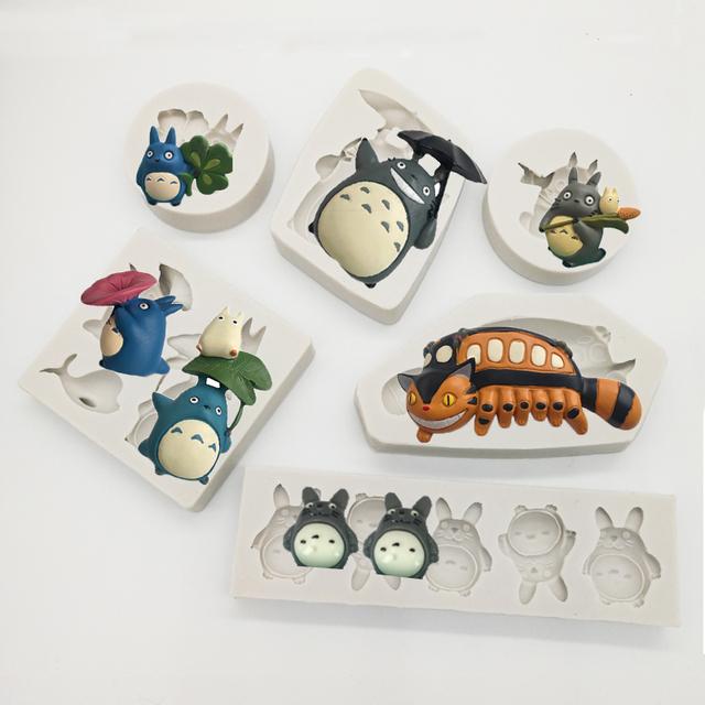 Totoro Silicone Mold Fondant Mould Cake Decorating Tools Chocolate, Gumpaste Mold, Sugarcraft, Kitchenware