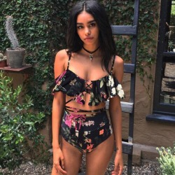 Bikini 2017 Hot Sexy Swimsuit Women Swimwear Bathing Suit Push Up Brazilian Bikini Set Printed Bandage Swimming Suits