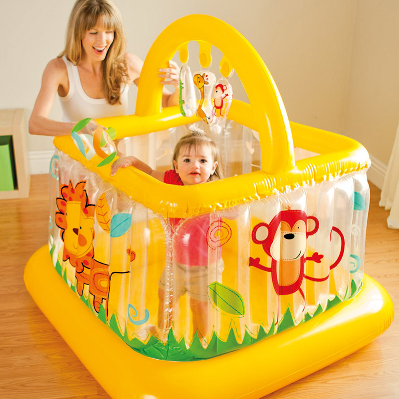 trampoline inflatable bouncer bouncy castle jumping bed Inflatable baby Trampoline with Enclosure Net все цены