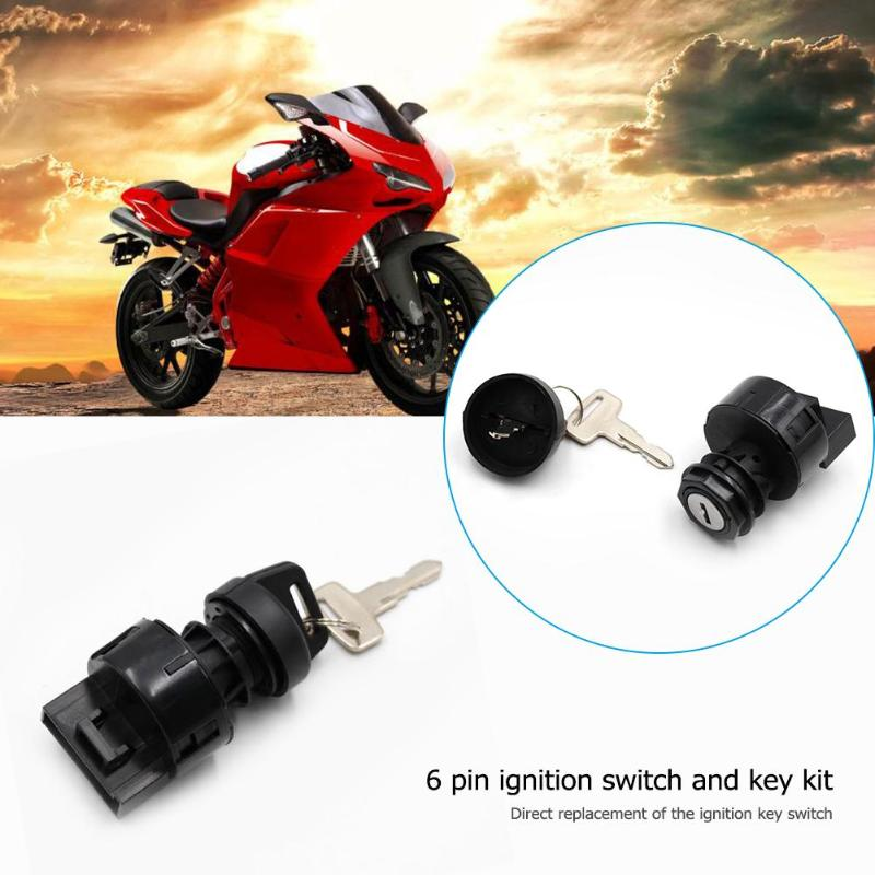 6 Pin Ignition Key Switch+ 2 Keys Replacement Accessories For POLARIS TRAIL BOSS 325 330 2002 2003 ATV