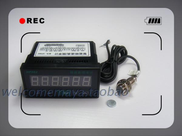 Digital frequency meter, tachometer speed meter line frequency meter industrial speed meter tachometer / instantaneous flowmeter victor dm6235p digital tachometer