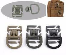 цены 1pc Molle Tactical 360 Rotation D Ring Backpack Buckle Clip Carabiner Sternum Strap Swivel Plastic Buckle Hooks Webbing Locking