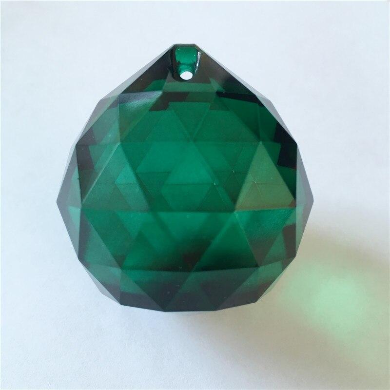 Hot Sales 5csLot 40mm Zircon Green Crystal Chandelier Balls For Garland Strand Hanging Lights Decoration