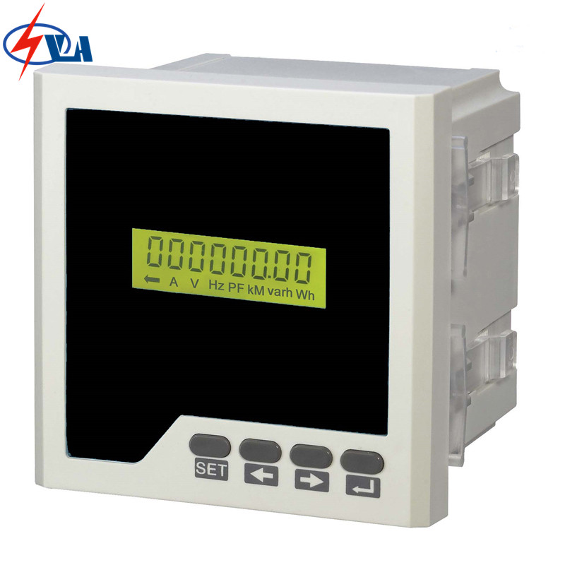 D3Y panel size 96*96 lcd single-phase digital multifunction meter for distribution box AC220V d6 4o panel size 72 72 low price and high quality ac single phase led digital energy meter for industrial usage