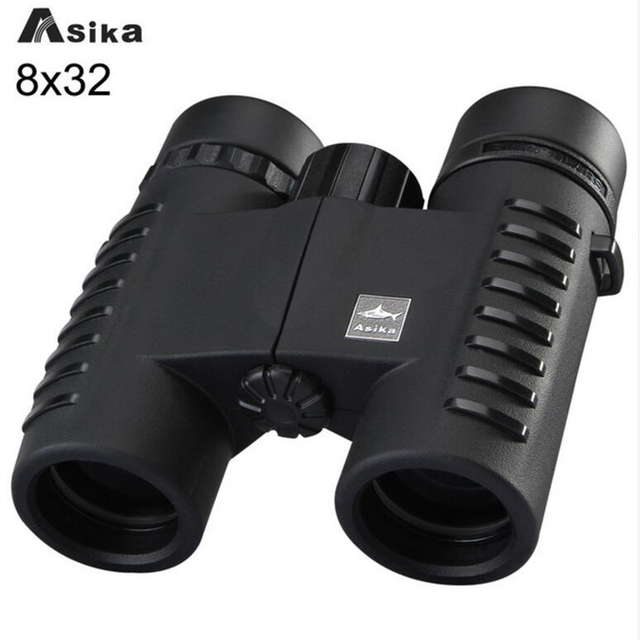 Asika Wide Angle 8x32 HD Compact Army Binoculars with Fully Multi-coated High Power Telescopes Bak4 Prism Optics Binoculares