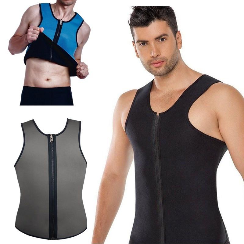 NINGMI Mens Slim Vests Body Shaper Latex Neoprene Abdomen Belly Thermo Tummy Shaperwear Waist Sweat Sauna Top Corset Weight Loss