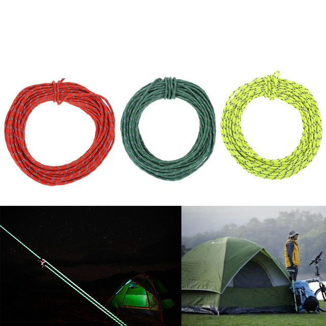 15m 2 5mm Camping Reflective Wind Rope Outdoor Sun Shelter Awning Windproof  Noose Ropes Tent Accessories-in Tent Accessories from Sports &