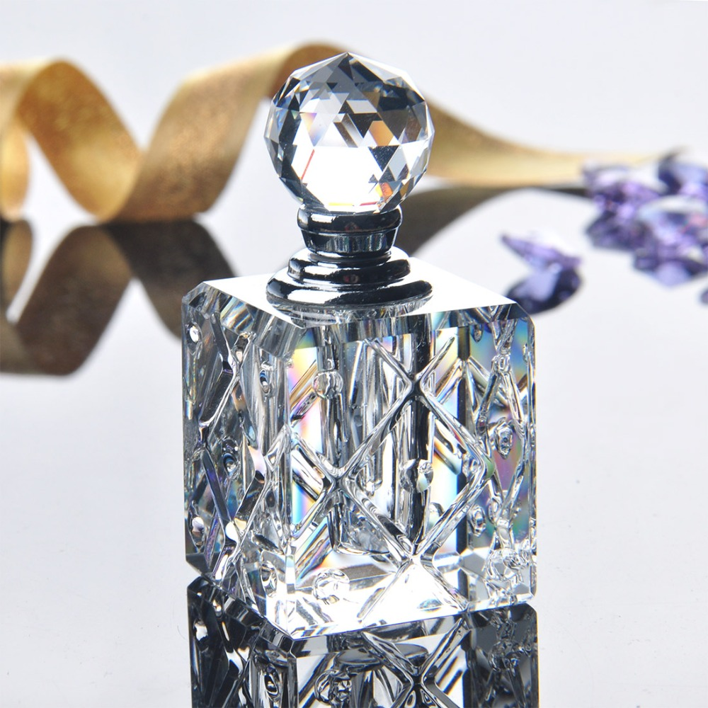 цена на 5ML Clear Unqiue Crystal Glass Crystal Women Perfume Bottle Empty Refillable Container Travel Perfume Cosmetic Sample Bottle