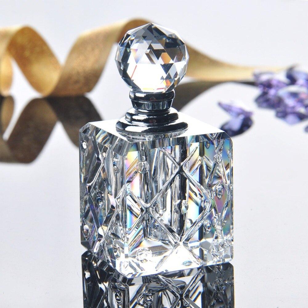 H & d 3 ml limpar unqiue cristal de vidro garrafa de perfume feminino vazio recipiente recarregável viagem perfume cosméticos amostra garrafa