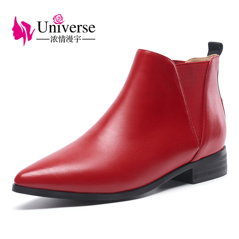 Univers special three kind of heels ankle boots 3cm/4cm/8cm heel women chelsea leather boots G197 bigbang gd g dragon collection one of a kind booklet release date 2013 4 02 kpop