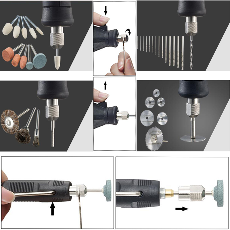 Image 5 - Dremel Style 180W Engraver Multi Function Rotary Mini Electric Drill Grinding Machine Engraving Grinder DIY Creative Power Tools-in Electric Drills from Tools on