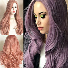 Women's' Hairpiece Long Curly Full Wig Heat Resistant Synthetic Hair Blonde