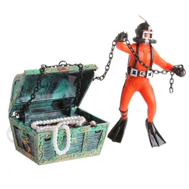Treasure Hunter Diver Action Figure Fish Tank Ornament Aquarium Decor Landscape #X109Q#