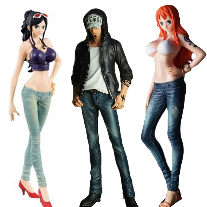One Piece Jeans Freak Nami Robin Trafalgar Law Collectible Model Toy Figurine One Piece Doll