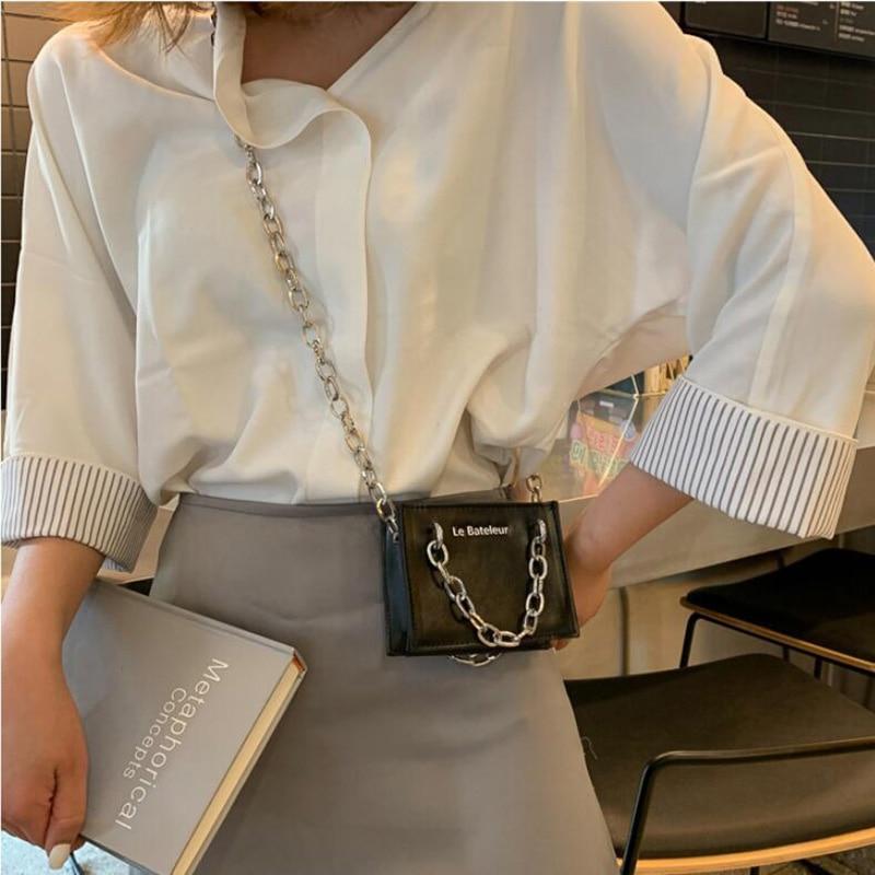 Женская мини сумка с цепочкой, сумки через плечо для подарка, брендовые дизайнерские сумки через плечо 2019, ретро черный мешок