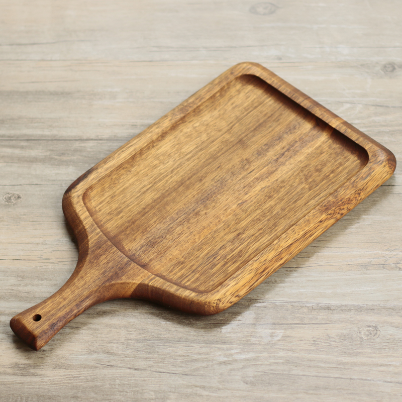 Black Walnut Real Wood Pizza Bread Tray Small Chopping Block Cutting Board Cooked Fruit Tray Pizza Plates-in Chopping Blocks from Home u0026 Garden on ... & Black Walnut Real Wood Pizza Bread Tray Small Chopping Block Cutting ...